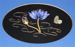 Alison Cole Embroidery -Thai Waterlily