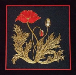 Alison Cole Embroidery -The Poppy