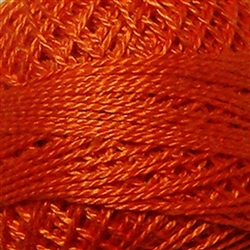 Valdani Perle Cotton Color #073 - Peach Orange Dark