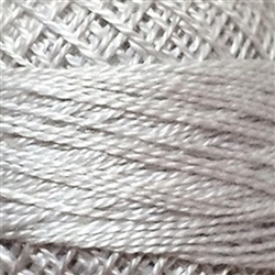 Valdani Perle Cotton Color #117 - White Smoke Gray