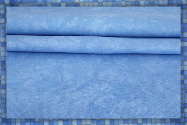 Periwinkle - Hand-dyed embroidery and cross-stitch fabrics by
