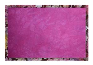 Orange and Purple-Grey 14.5 x 24 Item #409 Hand-dyed Cross Stitch Fabric 11 count
