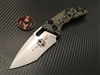 Heretic Knives Martyr Auto Recurve Stonewashed Predator Skin
