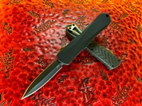 Heretic Knives Manticore E Double Edge DLC, Carbon Fiber Top, Flamed Ti accents and DLC Hardware