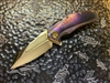 Marfione Custom Matrix, Mirror Polished Elmax, Mokuti and Purple Haze Titanium, Bronzed Titanium Accents