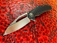 Marfione Custom Mini Matrix, Mirror Polished, Carbon Fiber And Titanium Scales, Flamed Titanium and Carbon Fiber Accents