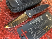 Marfione Custom Socom Elite Tanto Bronzed Vegas Forge Razorwire Damascus StingRay Inlay