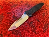 Marfione Custom Socom Elite Tanto Edge, '97 Grind, Mirror Polished, Carbon fiber Scales, Blue and flamed Titanium Accents