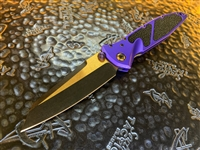 Marfione Custom Socom Elite Warcom, Bronzed Two-Tone DLC Apocalyptic, Purple Aluminum w/ Stingray inlays, DLC two tone bronzed satin Accents