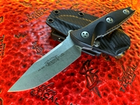 Microtech Socom Alpha Mini Single Edge Stonewashed Standard