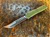 Microtech Ultratech Signature Series Hellhound Tanto Bronzed G10 OD Green