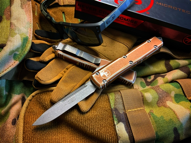 Microtech Ultratech Single Edge Apocalyptic Distressed Tan Standard