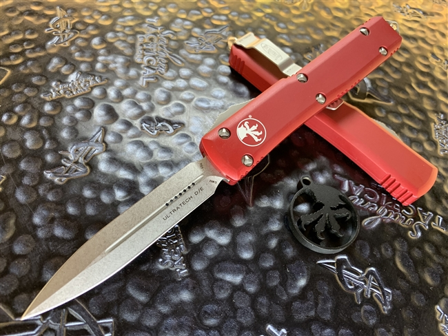 Microtech Ultratech Double Edge Stonewashed Standard Red