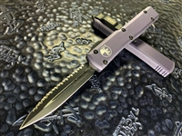 Microtech Ultratech Double Edge Full Serrated Grey