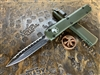 Microtech Ultratech Double Edge Full Serrated OD Green