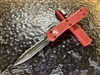 Microtech Ultratech Double Edge Full Serrated Red