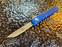 Microtech Ultratech Tanto Part Serrated Apocalyptic Blue