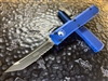 Microtech Ultratech Tanto Part Serrated Blue