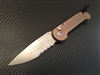 Microtech LUDT Single Edge Part Serrated Stonewashed Tan