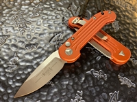 Microtech LUDT Single Edge Satin Standard Orange