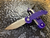Microtech LUDT Single Edge Satin Standard Purple
