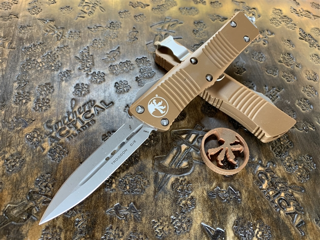 Microtech Troodon Double Edge Apocalyptic Standard Tan