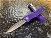 Microtech Troodon Double Edge Stonewashed Standard Purple
