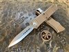 Microtech Troodon Double Edge Stonewashed Standard Tan