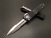Microtech Troodon Double Edge Stonewashed Parts Serrated