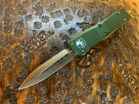 Microtech Troodon Double Edge Bronzed Standard OD Green