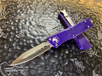 Microtech Troodon Double Edge Satin Standard Purple