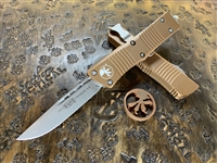 Microtech Troodon Single Edge Apocalyptic Standard Tan