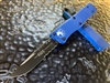 Microtech Troodon Single Edge Part Serrated Blue