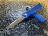 Microtech Troodon Single Edge Satin Standard Blue