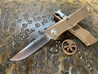 Microtech Troodon Single Edge Satin Standard Tan