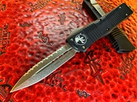 Microtech Combat Troodon Double Edge Full Serrated Stonewashed