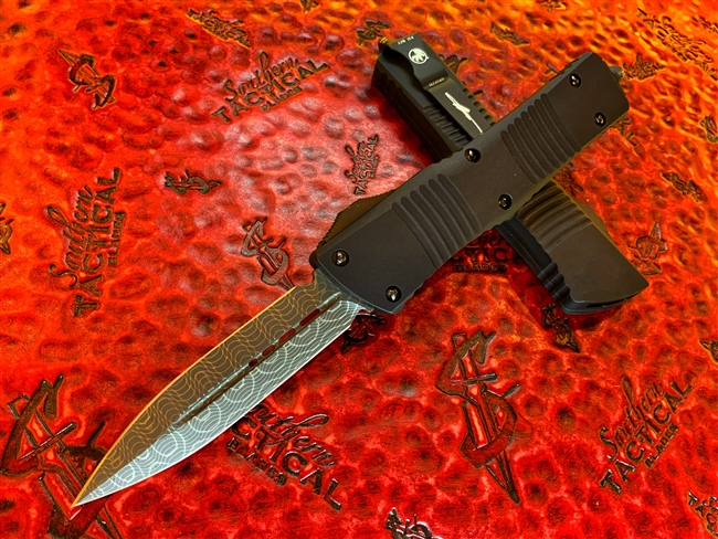 Microtech Combat Troodon Double Edge Damascus, Ringed Hardware