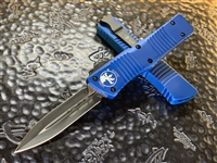 Microtech Combat Troodon Double Edge Standard Blue