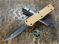 Microtech Combat Troodon Double Edge Standard G10 Tan