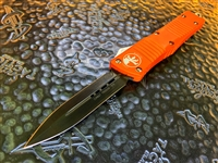 Microtech Combat Troodon Double Edge Standard Orange 2015 w/ Factory DLC Blade
