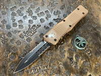 Microtech Combat Troodon Double Edge Part Serrated Tan