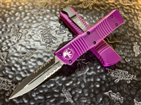 Microtech Combat Troodon Double Edge Part Serrated Violet