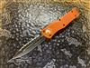 Microtech Combat Troodon Double Edge Full Serrated Orange