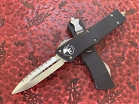 Microtech Combat Troodon Double Edge Satin Full Serrated