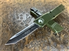 Microtech Combat Troodon Tanto Full Serrated OD Green