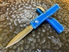 Microtech UTX-70 Double Edge Apocalyptic Standard Distressed Blue