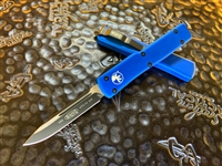 Microtech UTX-70 Single Edge Black Blade Standard Blue
