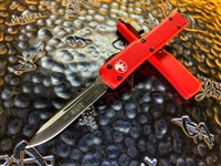 Microtech UTX-70 Single Edge Black Blade Standard Red