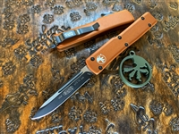 Microtech UTX-70 Single Edge Black Blade Standard Tan