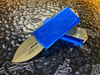 Microtech Exocet Double Edge Apocalyptic Standard Blue